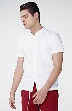 Short-Sleeve Drawstring Shirt