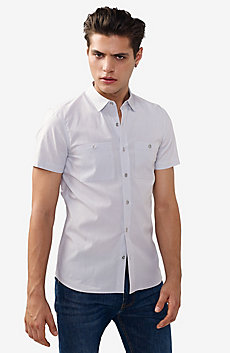Short-Sleeve End-On-End Shirt