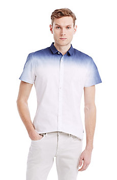 Dip-Dyed Short Sleeve Shirt
