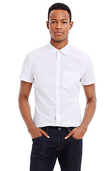 Short-Sleeve Perforated Shirt