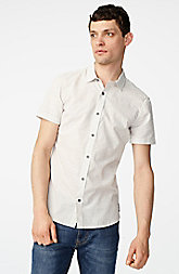 Short-Sleeve Dobby Stripe Shirt
