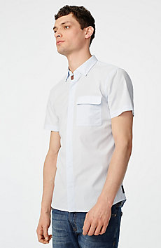 Short-Sleeve Microcheck Shirt