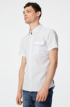 Short-Sleeve Microcheck Shirt