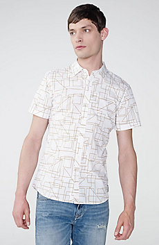 Short-Sleeve Drawing Board Poplin Shirt