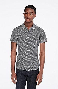 Short-Sleeve Geo Print Shirt