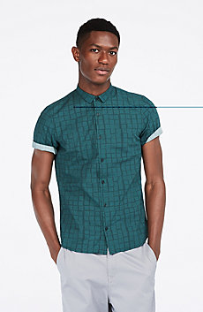 Short-Sleeve Squares Shirt