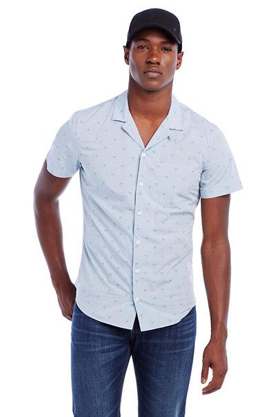 Short-Sleeve Palm Sportshirt