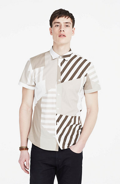 Fractured Striped Shirt