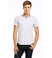 Short Sleeve Cross Jacquard Shirt
