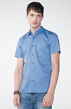 Short-Sleeve Microprint Shirt