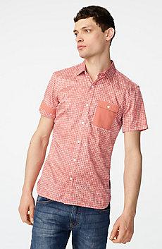 Contrast Trim Floral Shirt