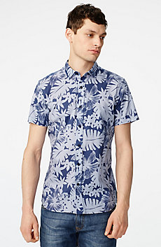 Short-Sleeve Palm Oxford Shirt