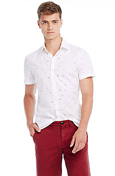 Short Sleeve Amoeba Print Shirt