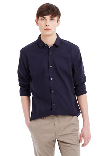 Textured Non Iron Cotton Shirt