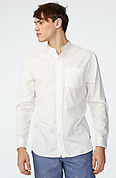 Relaxed Band Collar Shirt