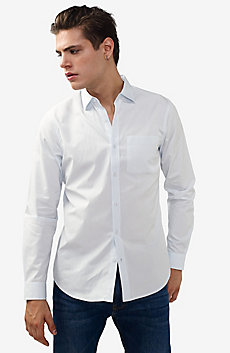 Solid Poplin Regular-Fit Shirt