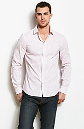 Stretch Stripe Overlay Shirt