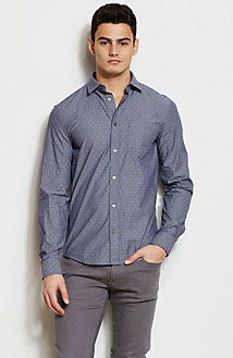 Dotted Jacquard Stripe Shirt