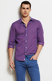 Purple Stripe Shirt<br>Online Exclusive