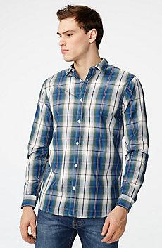Vibrant Plaid Shirt