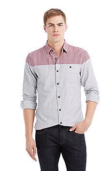 Plaid To Stripe Shirt