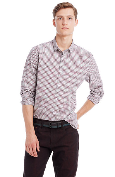 White Check Shirt