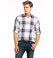 Exaggerated Plaid Shirt