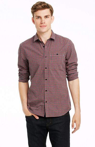 Mini Check Cotton Shirt