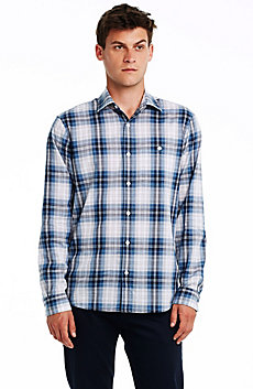Indigo Plaid Cotton Shirt