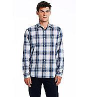 Indigo Plaid Cotton Shirt