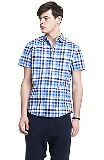 Short Sleeve Pocket Plaid Shirt