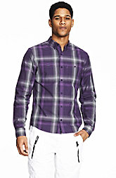 Purple Check Plaid Shirt