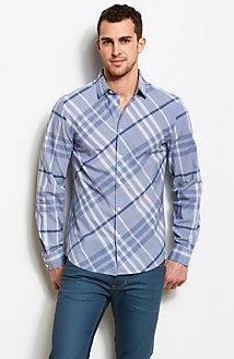 Blue Plaid Shirt<br>Online Exclusive
