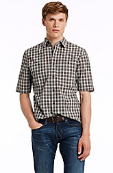 Short Sleeve Tonal Check Shirt