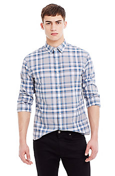 Multi-Plaid Cotton Shirt