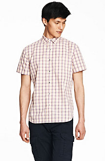 Short Sleeve Sunrise Plaid Shirt