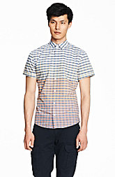 Short Sleeve Ombre Stripe Shirt