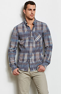 Multicolor Plaid Shirt<br>Online Exclusive