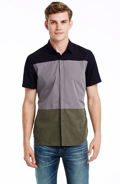 Short Sleeve Colorblock Shirt