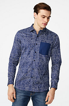 Contrast Pocket Floral Shirt