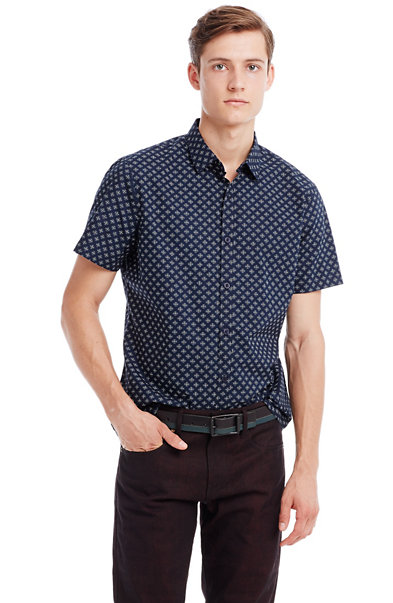 Short Sleeve Dot Shirt