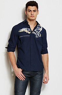 Eagle Print Shirt<br>Online Exclusive
