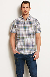 Short Sleeve Plaid Shirt