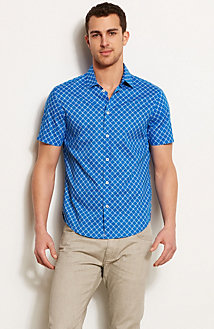 Short Sleeve Geo Lattice Shirt<br>Online Exclusive
