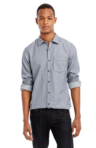 Textured Denim Shirt