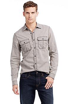 Washed Grey Denim Shirt