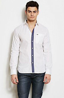 Contrast Placket Shirt<br>Online Exclusive