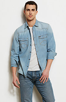 Western Denim Shirt<br>Online Exclusive