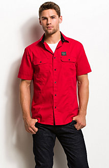 Short Sleeve Logo Patch Utility Shirt