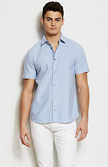 Short Sleeve Contrast Oxford Shirt